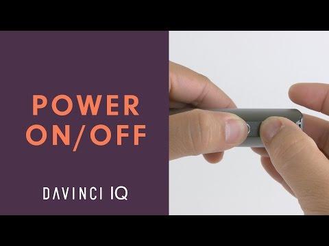 How to Turn On/Off Your DaVinci IQ – DaVinciVaporizer.com