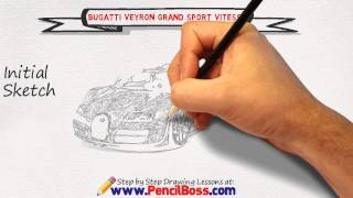 How to draw a Bugatti Veyron Grand Sport Vitesse (Speed Drawing)