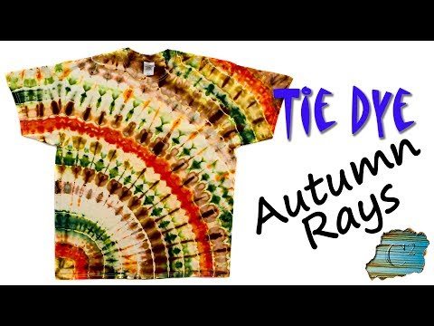 How To Tie Dye:  Autumn Rays  [Ice Dye]