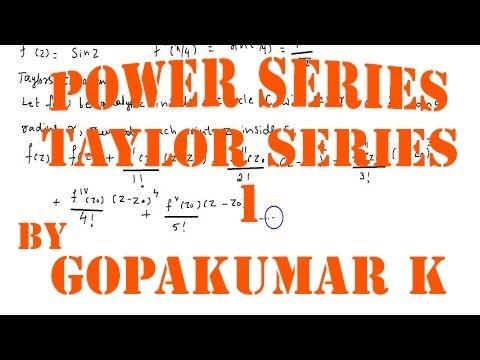 Power Series -Taylor Series- part 1 Engineering mathematics-(KTU,Kerala  ,Anna University)