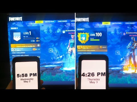 LEVEL 1 to LEVEL 100 in 24 Hours! - SEASON 4 NEW SECRET to MAX LEVEL 100 in Fortnite Battle Royale!