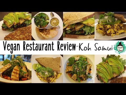 Vegan Food at 'Veggie Bean' Restaurant Review Koh Samui (VLOG)