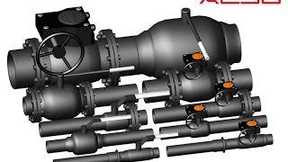 ArchiCAD. Кран стальной шаровой  ALSO. ГОСТ-10705,8731,3262