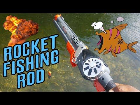 ROCKET FISHING ROD!!!  Catches Fish!