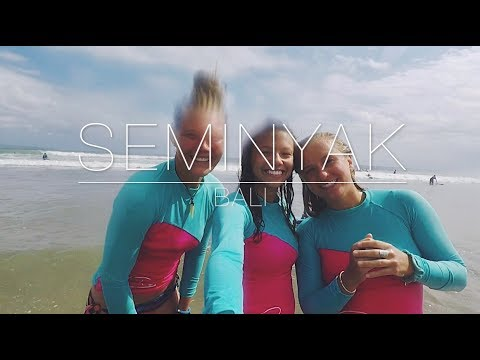 LEARNING TO SURF IN BALI | Seminyak, Bali, Indonesia