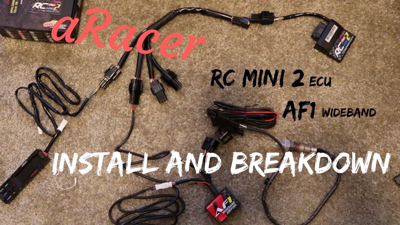 aRacer RC mini 2 & AF1 install on my Honda Grom