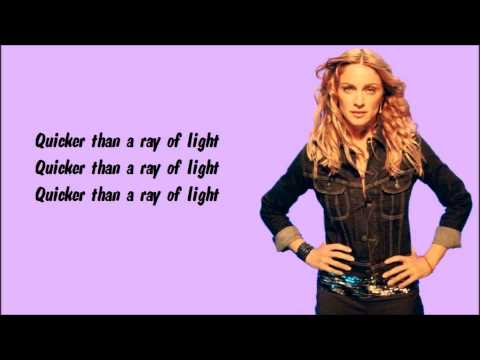 Madonna - Ray Of Light Karaoke / Instrumental with lyrics on screen