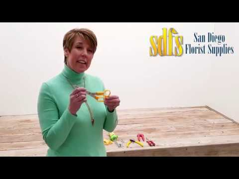 Floral Tools Explained With Andrea Corbett From  San Diego Florist Supplies