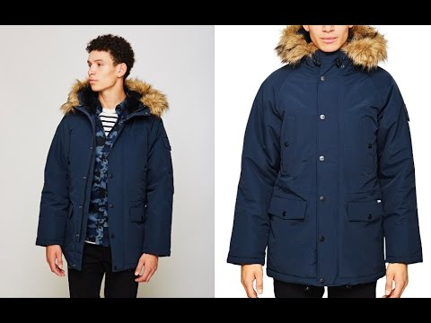 Carhartt WIP Anchorage Parka Jacket Navy