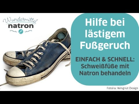 Stinkefüße, Fußgeruch, Käsefüße mit Natron lindern - YouTube