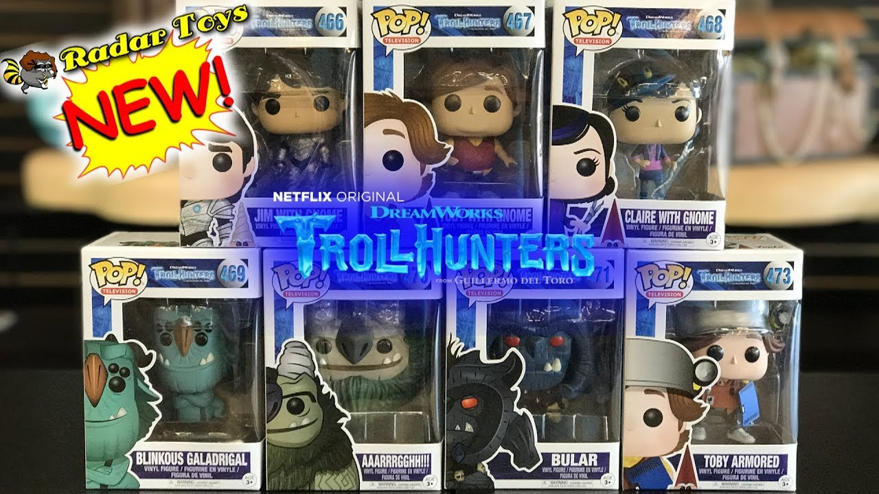 Troll Hunters S1 Vinyl Figures New in Box Television SET OF 6 Funko POP