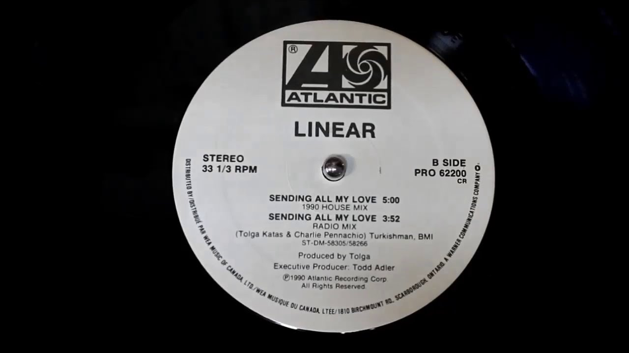 Linear - Sending All My Love (1990 House Mix) (1990) HD Promo