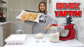 Evde Gerçek Ekmek Yaptım! Fırın Ekmeği Gibi Oldu Melike Elif
