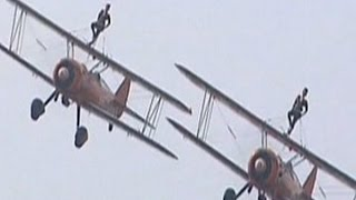 China: Watch women perform acrobatic stunts on the wings of plane