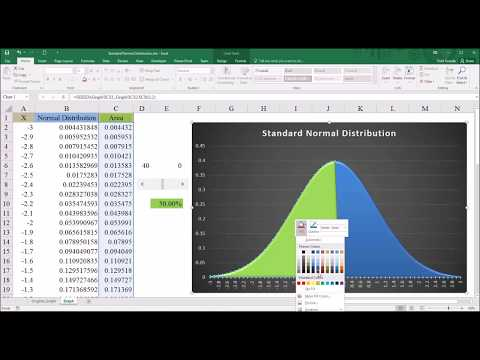 Creating A Graph Of The Standard Normal Distribution In Excel