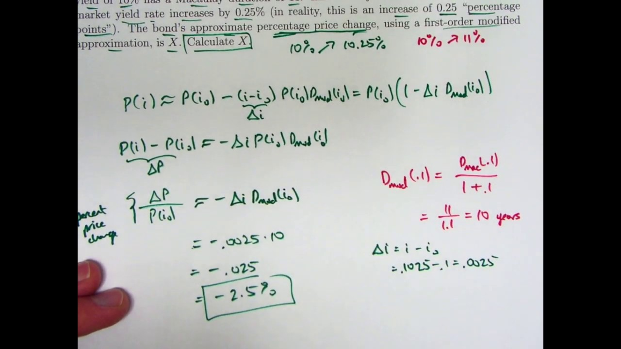Actuarial Exam 2/FM Prep: Another First-Order Modified Approximation Example