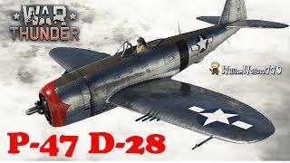 Como Volar en Battallas Realista un P-47  D-28 WarTHUNDER