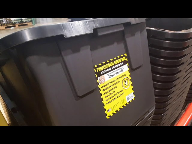 Costco! Heavy duty 27 Gallon Storage bins with yellow lids! $5.99!!!