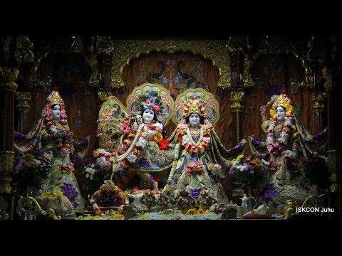 Sri Sri Radha Rasbihari Temple Sringar Arati Darshan 26th April 2018 Live from ISKCON Juhu, Mumbai