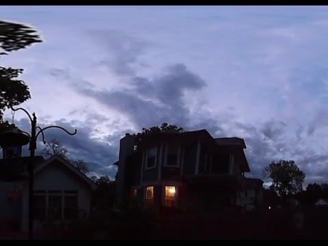5/14/2016 -- 360 degree video view of Nightfall / Twilight -- Outdoor low light test
