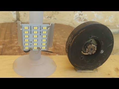 How to Make Free Energy Generator Magnet using Led Light Bulb