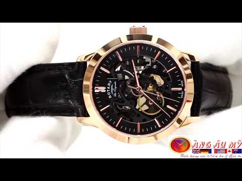 Đồng Hồ Rotary Les Originales 120 Years Automatic Skeleton 18K Rose Gold Plated Limited Edition