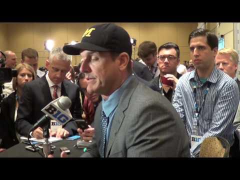 Michigan Coach Jim Harbaugh Addresses Gene Smith