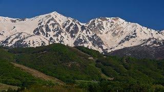 新緑と雪解の白馬山麓・4K撮影