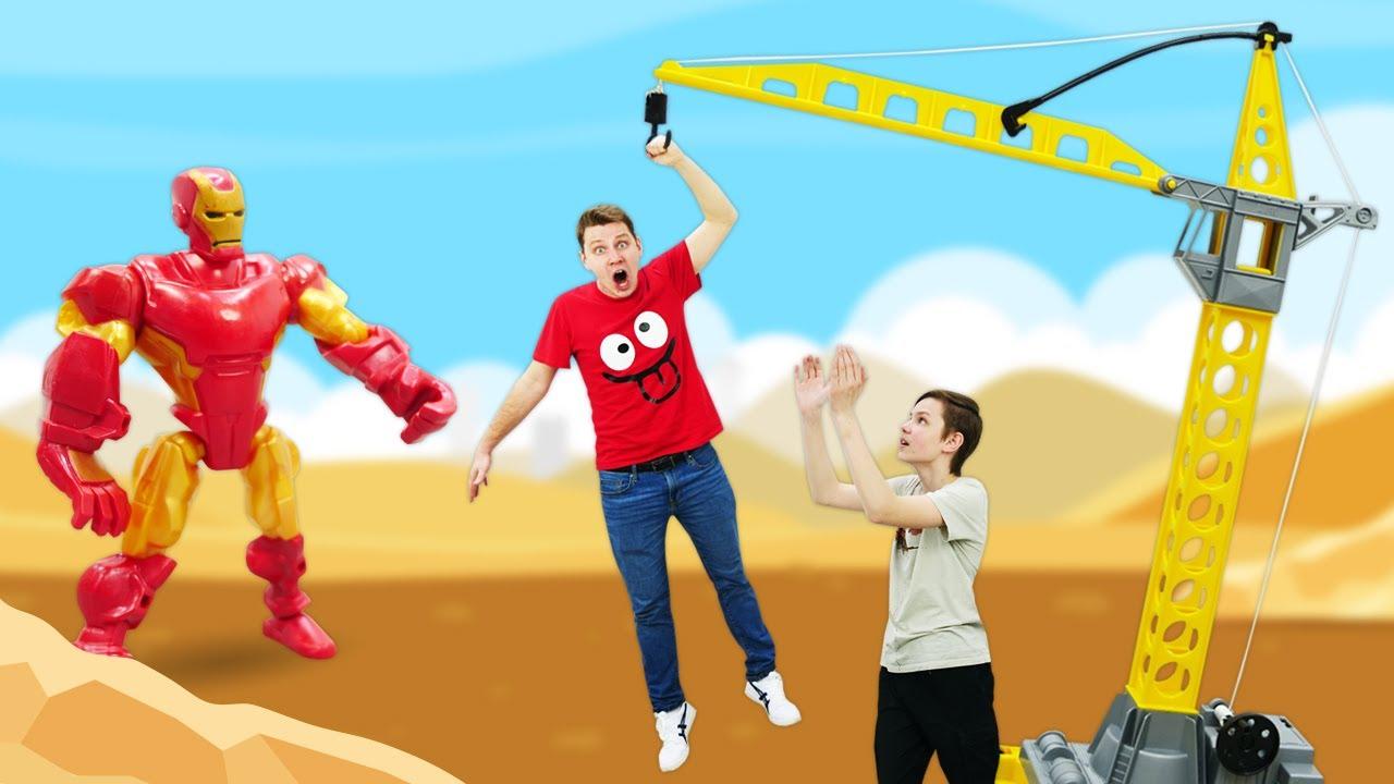 Супергерои в видео шоу – Железный Человек на Стройке! – Прикольные видео игры для мальчиков