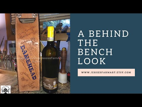 The Making of a Handcrafted Leather Wine Bottle Carrier - Behind the Bench Series
