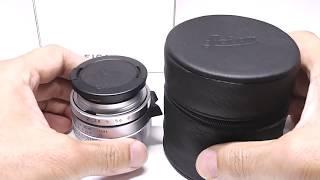 LEICA ズミクロン Summicron-L 35mm F2 ASPH シルバー(限定生産) + 12504Hood + 元箱 + UVaフィルター thumbnail