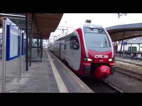 Trains at Luxembourg City Central Station 15 January 2015