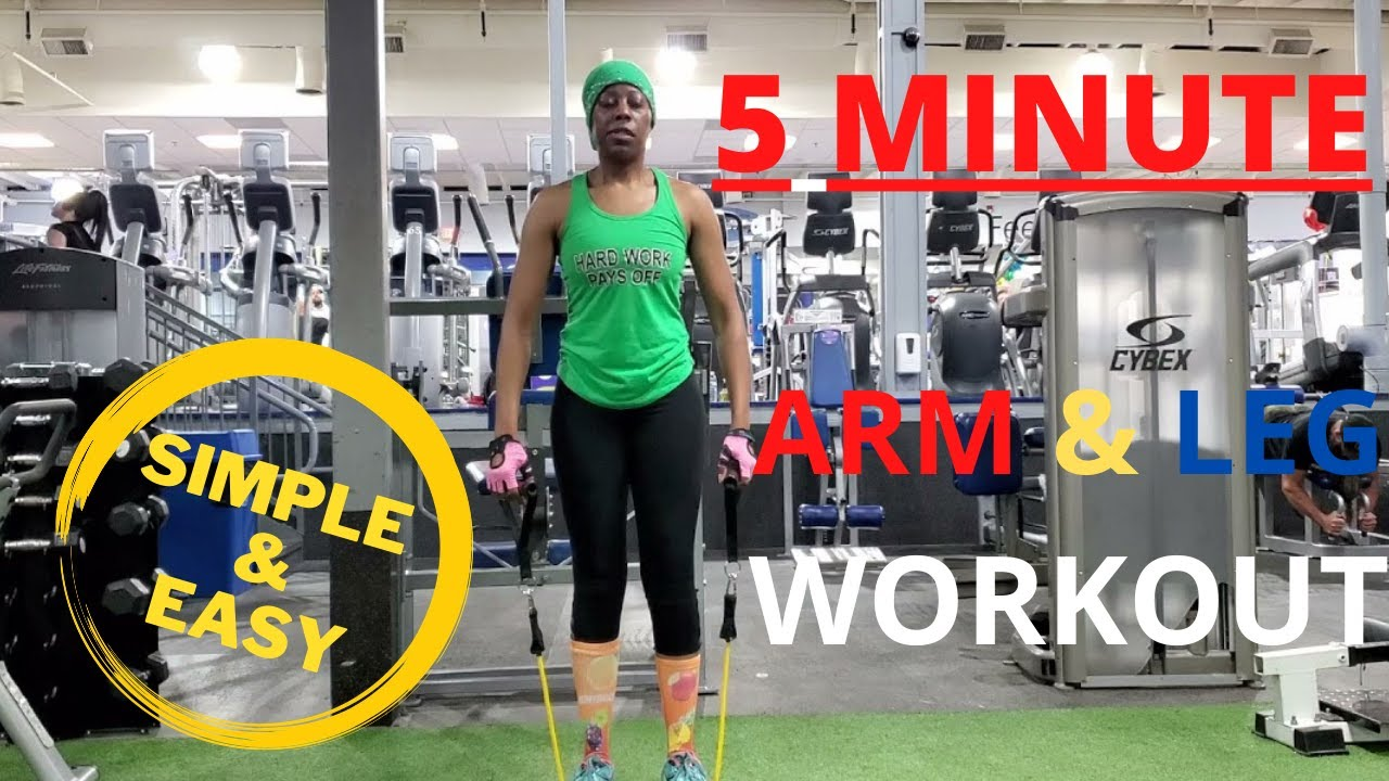 Simple & Easy 5 min Arm & Leg EXERCISE