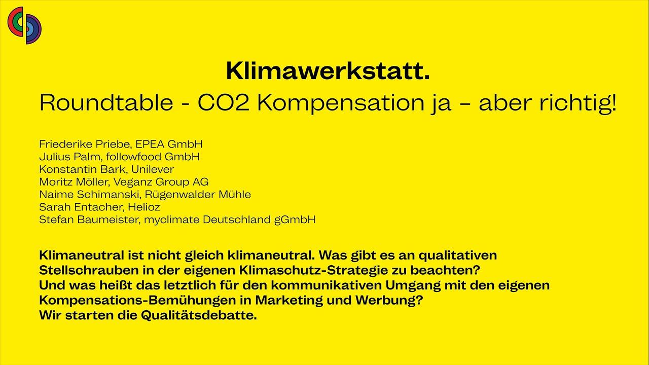 M4F Klimawerkstatt - Roundtable - CO2 Kompensation ja – aber richtig!