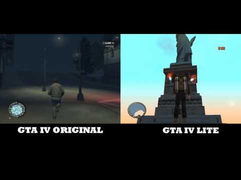 Comparación: GTA 4 Vs. GTA 4 Lite (Loquendo) Por Playbrat