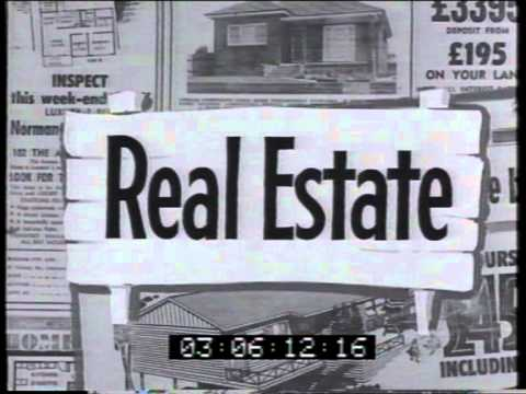 Daily Telegraph real estate section 1960 TV commercial