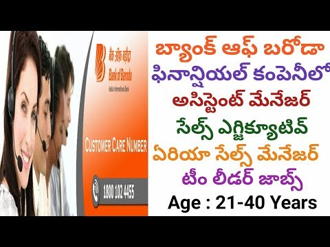 Banking Finance Jobs – Bank Of Baroda Financial Jobs for Exp & Freshers in AP&TS