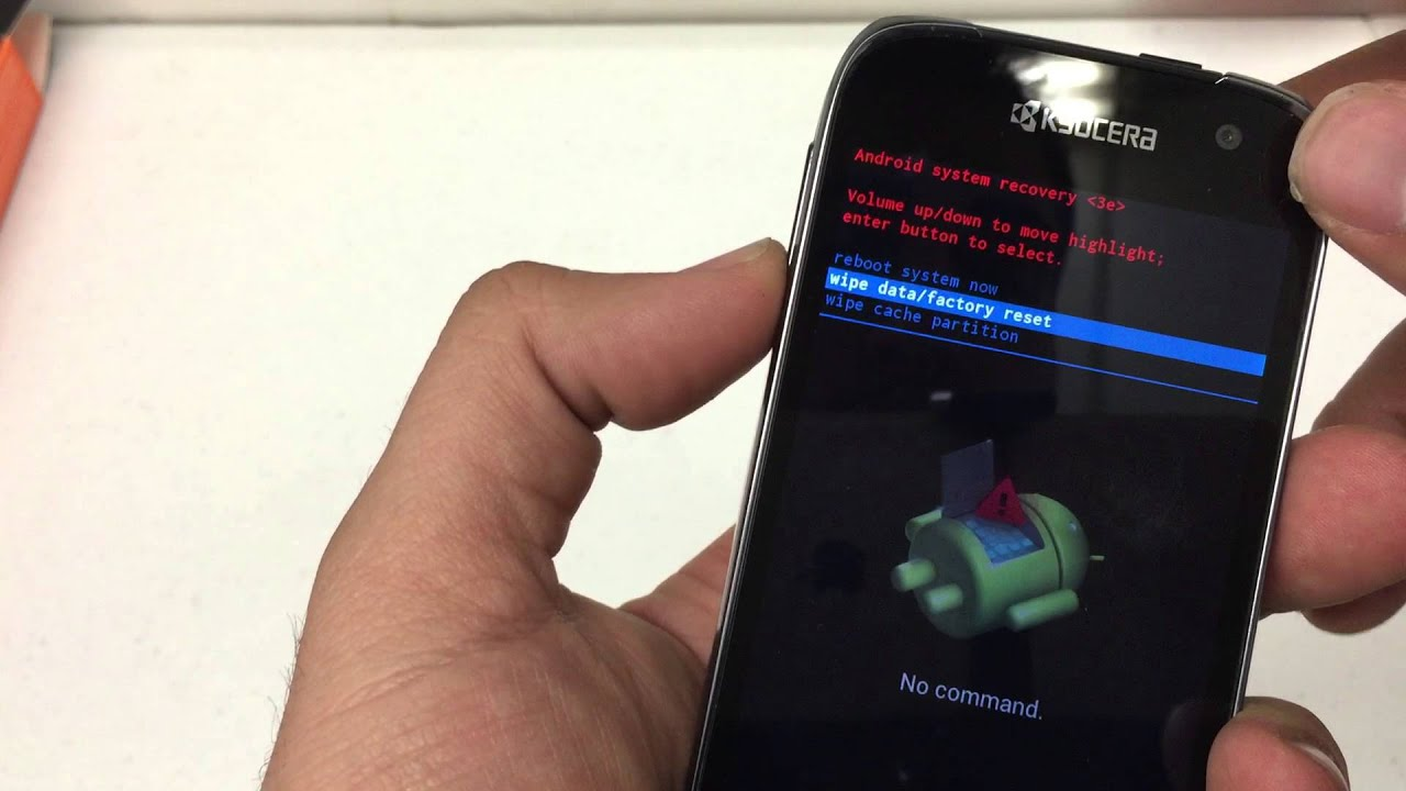 How to Hard Reset The KYOCERA Hydro Life Metro PCS Android 4 4