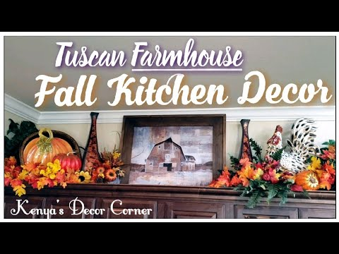 Fall Autumn Kitchen Decor | Above The Cabinet Decorate With Me | Vlogust Day 29
