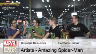 Artists Giuseppe Camuncoli and Humberto Ramos Talk Bringing Spider-Man to Life at NYCC 2014
