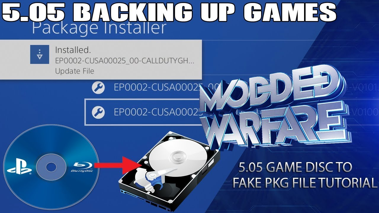 Backup PS4 Disc Games to HDD/pkg file (5 05 Jailbreak)
