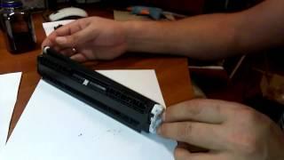 Как заправить картридж лазерного принтера Canon LBP7018c(Заправка canon LBP7018c, своими руками., 2014-12-10T20:25:30.000Z)