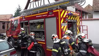 Manoeuvre incendie Schnersheim 9 septembre 2017