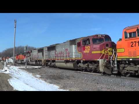 28-Engine BNSF Power Move with Ex-BN an Ex-Santa Fe Units