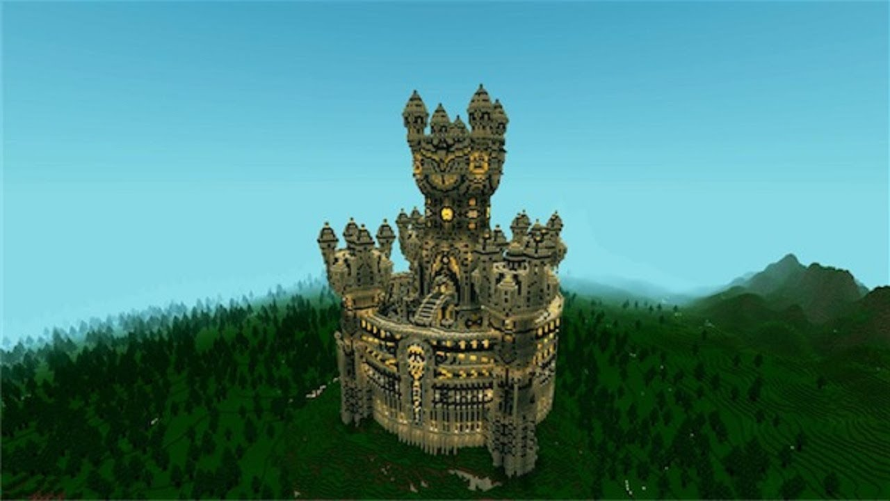 Minecraft Warucia Castle Epic Build Map Presentation And