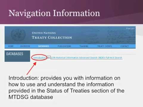 U.N. Treaty Series: Multilateral Treaty Search