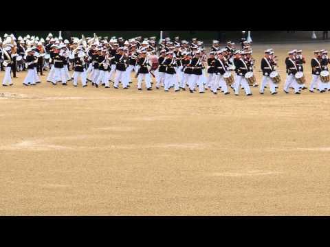 Massed Bands Royal Marines Beating Retreat 2014