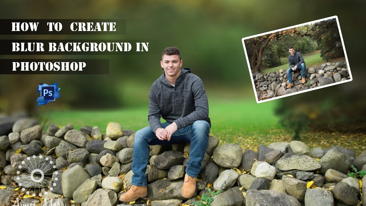 how to blur a background in photoshop cs6
