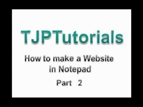 how to make htlm website using notepad