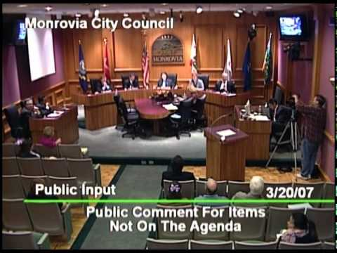 March 20, 2007 | Monrovia, CA | City Council Meeting